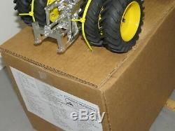 John Deere 7520 4WD Tractor PRECISION ENGINEERING 116 Toy CHROME & Green CUSTOM