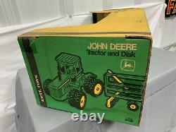 John Deere 8640 4WD Tractor with Disk SET 116 NIB Yellow Green 1979 RARE