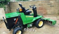 John Deere 900 4WD Diesel Cylinder Ride on Mower tractor 3 gang mower Yanmar