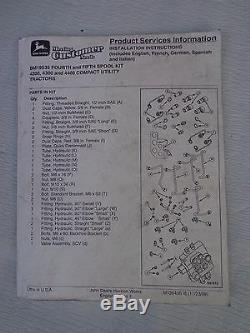 John Deere BM19535 4th 5th SCV KIt 4200 4300 4400 compact tractors
