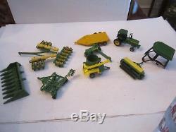 John Deere Ertl Metal Tractors & More & Parts Large Diecast Lot Small Items