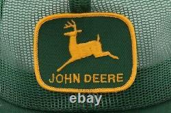 John Deere JD Tractor Louisville Green USA Vtg Full Mesh Snapback Adjustable Hat