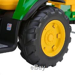 John Deere Kids 12v Electric Ride-On Ground Force Tractor & Trailer