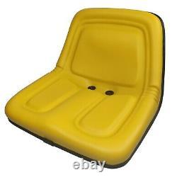 John Deere Lawn Mower Garden Tractor Seat Yellow 318 322 330 332 400 420 430