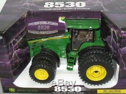 John Deere Model 8530 Tractor with Dual DieCast Metal NIB ERTL 116 HUGE Collector