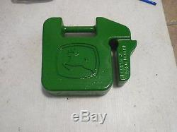 John Deere Rear Extra Weight 42 lbs. Traction Suitcase Tractor Balance Green NEW
