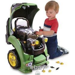 John Deere Service Tractor Engine Kid's Toy Repair Set Working Horn & Headlights