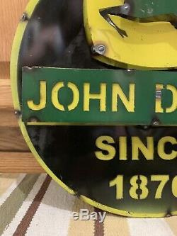 John Deere Tractor Metal Farm Equipment Vintage Style Tractors Cow Horse Decor