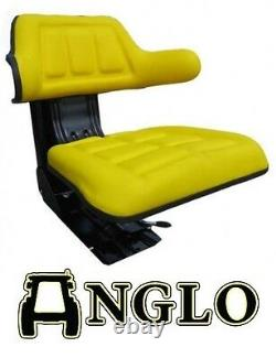 John Deere Tractor Mower Suspension Seat Including Angled Base Very Comfortable