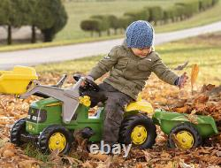 John Deere Tractor, Trailer And Loader Ride On For Kids New Child Toy