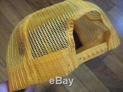 John Deere Tractors Vintage Farmers Farm Gold Black Snapback Mesh Hat Cap Nice