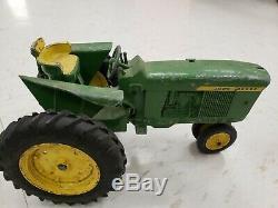John Deere Vintage Lot Of 5 Die Cast Toys Tractors Planter Grain Drill Elevator