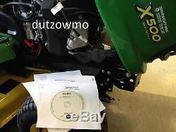 John Deere X500, X520 lawn tractor CD dealer technical service tech manual-TM2309