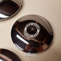 John Deere chrome hubcaps 110 112 140 200 212 214 216 300 318 316 garden tractor