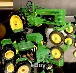 Lot of 13 Mixed ERTL John Deere Metal Die-cast Diecast Tractors Farming+