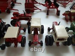 Lot of 22 1/64 Diecast Ertl International Hydro turbo Ford Deere Farm equipment