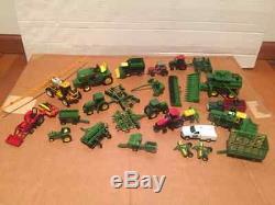 Lot of 28 Pieces Die Cast ERTL TONKA John Deere Farm Machinery Tractors Combines