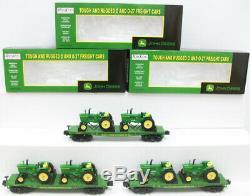 MTH 30-7027 John Deere 3-Car Flatcar Set withTractors MT/Box
