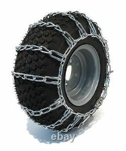 New PAIR 2 Link TIRE CHAINS 23x10.50-12 for John Deere Lawn Mower Tractor Rider