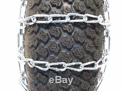New PAIR 2 Link TIRE CHAINS 26x12-12 for John Deere Lawn Mower Tractor Rider