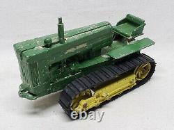 Original JOHN DEERE Model 40 CRAWLER TRACTOR FARM TOY 1/16 Scale 1950's ERTL