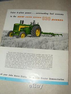 Original John Deere 630 730 Standard Tractors Brochure