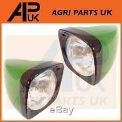 PAIR John Deere 30 40 50 Series Tractor Headlight Headlamp Metal Assembly LH RH