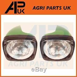 PAIR of John Deere 2450 3040 3050 3130 3140 3350 3650 Tractor Headlight Headlamp