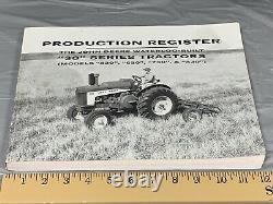 Production Register John Deere Waterloo Built 30 Series Tractors 530 630 730 830