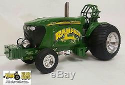 Rampage 1/16th diecast tractor pulling bruder farm toy