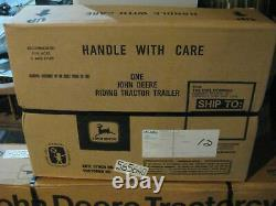 Rare Ertl John Deere Yellow Pedal Tractor & Trailer New In Boxes