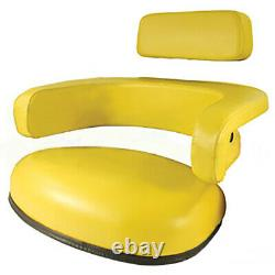 Seat 3-Piece Set Vinyl Yellow fits John Deere 4020 7700 4230 3020