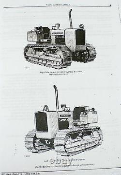 Service Manual Set For John Deere 350b Crawler Tractor Parts Operators Technical