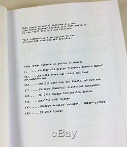 Service Manual Set For John Deere 420 420c Crawler Tractor Parts Operators Dozer
