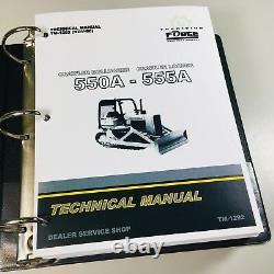 Service Manual for John Deere 550A 555A Crawler Bulldozer Loader Technical