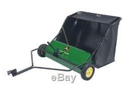 Tow Behind Lawn Sweeper Leaf Grass Clean Up Tractor Collector John Deere 42 in