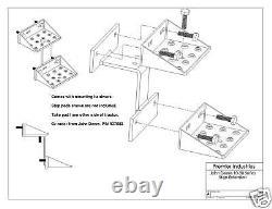 USA Step Extension John Deere 2510 3010 4010 2520 3020 4020 Bare Metal Finish