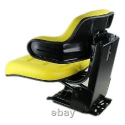 Universal Yellow Tractor Seat Wrap Around Style for John Deere & More W222YL