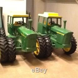 VINTAGE JOHN DEERE 7520 TRACTOR set of four used one with broken cab nice paint