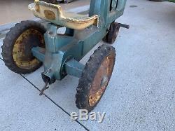 Vintage 1960s John Deere 10 Pedal Tractor Eska RARE 3 Hole Original