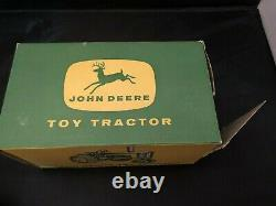 Vintage ERTL John Deere 630 Tractor, 3 point hitch, with box