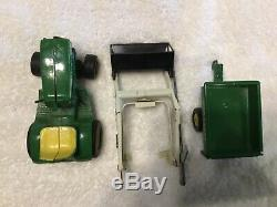 Vintage Ertl John Deere 140 Lawn & Garden Tractor Loader & Trailer