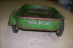 Vintage Eska John Deere JD Pedal Tractor Wagon