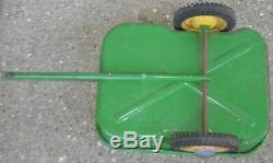 Vintage Eska John Deere Pedal Tractor Wagon Cart Trailer