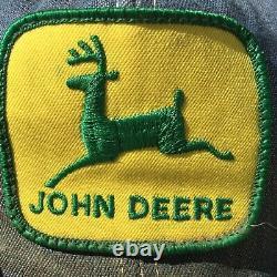 Vintage John Deere Denim Hat Cap Snapback Patch Tractor Farmer Trucker USA Fair