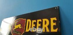 Vintage John Deere Porcelain Farm Implements Service Sale Gas Tractor Large Sign