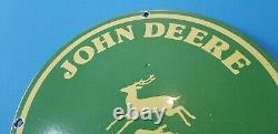 Vintage John Deere Porcelain Gas Farm Implements Service Sale Tractor 12 Sign