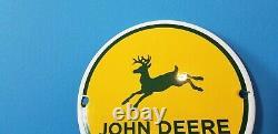 Vintage John Deere Porcelain Gas Farm Implements Service Sale Tractor 6 Sign