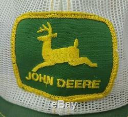 Vintage John Deere Tractors Snapback Pom Trucker Patch Hat Cap Farming RARE USA