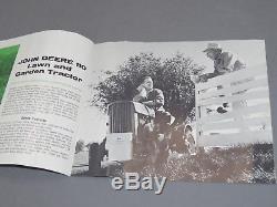 Vintage Original 1963 John Deere 110 Lawn Garden Tractor Brochure Catalog OLD
